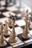 Chess pieces showing competition Royalty Free Stock Photo