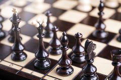 Chess pieces showing competition Stock Photography