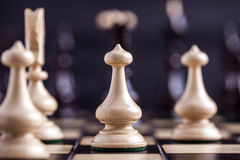 Chess pieces showing competition Stock Photos