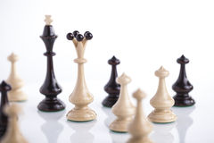 Chess pieces showing competition Stock Photo