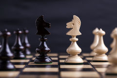 Chess pieces showing competition Royalty Free Stock Images