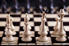 Chess pieces showing competition Royalty Free Stock Photography