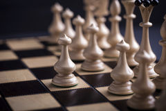 Chess pieces showing competition Royalty Free Stock Image
