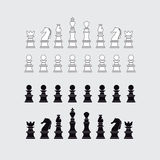 Chess pieces silhouette Royalty Free Stock Photos