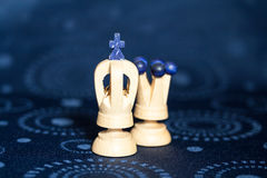 Chess pieces. Some wooden chess pieces ready to be played Royalty Free Stock Photography