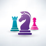 Chess pieces symbols. Chess pieces vector symbols royalty free illustration