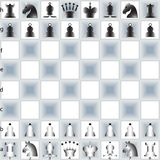 Chess pieces and table Stock Photography