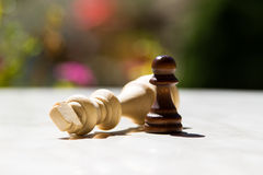 Chess Pieces on Table Royalty Free Stock Photography