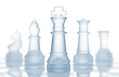 Chess pieces team Royalty Free Stock Photos