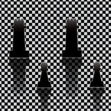 Chess pieces on texture Royalty Free Stock Photography