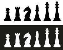 Chess pieces vector illustration Stock Photos