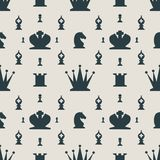 Chess Pieces Vector Seamless pattern. Royalty Free Stock Photo