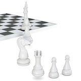 Chess pieces  on a white background. 3d rendering Stock Photo