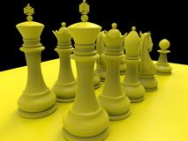 Chess piecies Royalty Free Stock Images