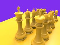 Chess piecies Stock Photo