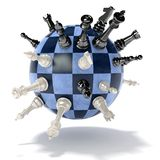 Chess planet Royalty Free Stock Photo