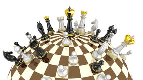Chess planet concept Stock Photography