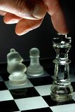 Chess play at night Stock Photography