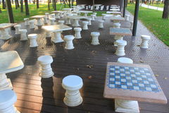Chess play place Stock Photos