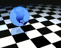 Chess-play with planet stock image