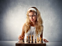 Chess player Royalty Free Stock Photos