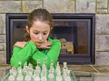 Chess player- decision time Royalty Free Stock Image