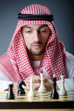 Chess player playing  game Stock Images