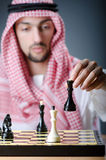 Chess player playing game Royalty Free Stock Photos
