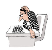 A chess player Stock Images