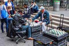 Chess player at Union Square in New York Stock Photography