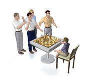 Chess players Stock Photos