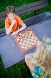 Chess Players from above royalty free stock photography