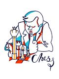 Chess Players Illustration vector illustration