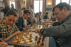 Chess players Royalty Free Stock Image