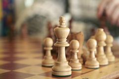 Chess playing Royalty Free Stock Photos