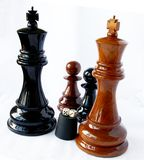Chess and playing bones Royalty Free Stock Photo