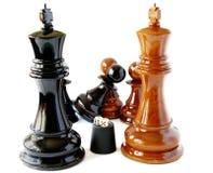 Chess and playing bones Stock Photo