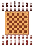 Chess playing figure pawn castle queen bishop king. Eps10  illustration.  on white background Royalty Free Stock Photos