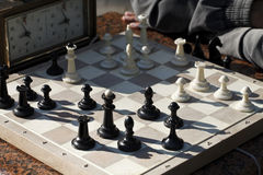 Chess. Playing time Royalty Free Stock Image