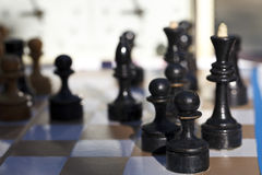 Chess. Playing time Stock Image