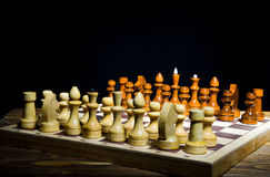 Chess position Royalty Free Stock Images