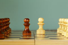 Chess position - opponents started the game Stock Photo