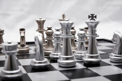 Chess position for the winners Stock Photography