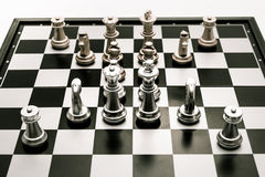Chess position for the winners Royalty Free Stock Images