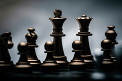 Chess position for the winners Stock Image