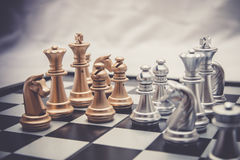 Chess position for the winners Royalty Free Stock Photography