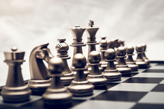 Chess position for the winners Royalty Free Stock Image
