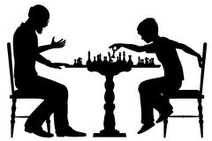 Chess prodigy Stock Images