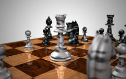 The Chess Queen. A chess game depicting the powerful queen Stock Photo