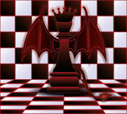 Chess Queen devil. Vector illustration Royalty Free Stock Images